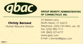 Click to see Group Benefit Administrators of Connecticut Inc. -> Gbac Details